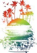 beauty colorful summer scene