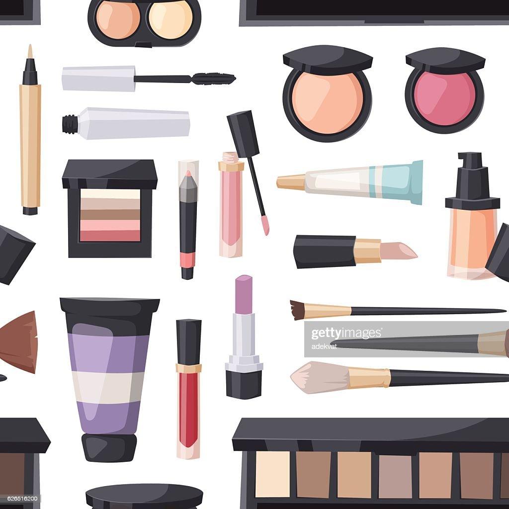 Beauty cosmetic seamless pattern