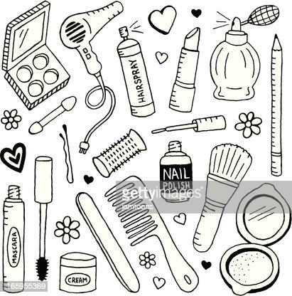 Beauty Doodles High Res Vector Graphic Getty Images