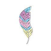 beauty feather style with decoration design