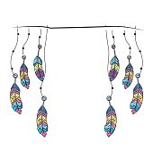 beauty feathers hanging to design decoration