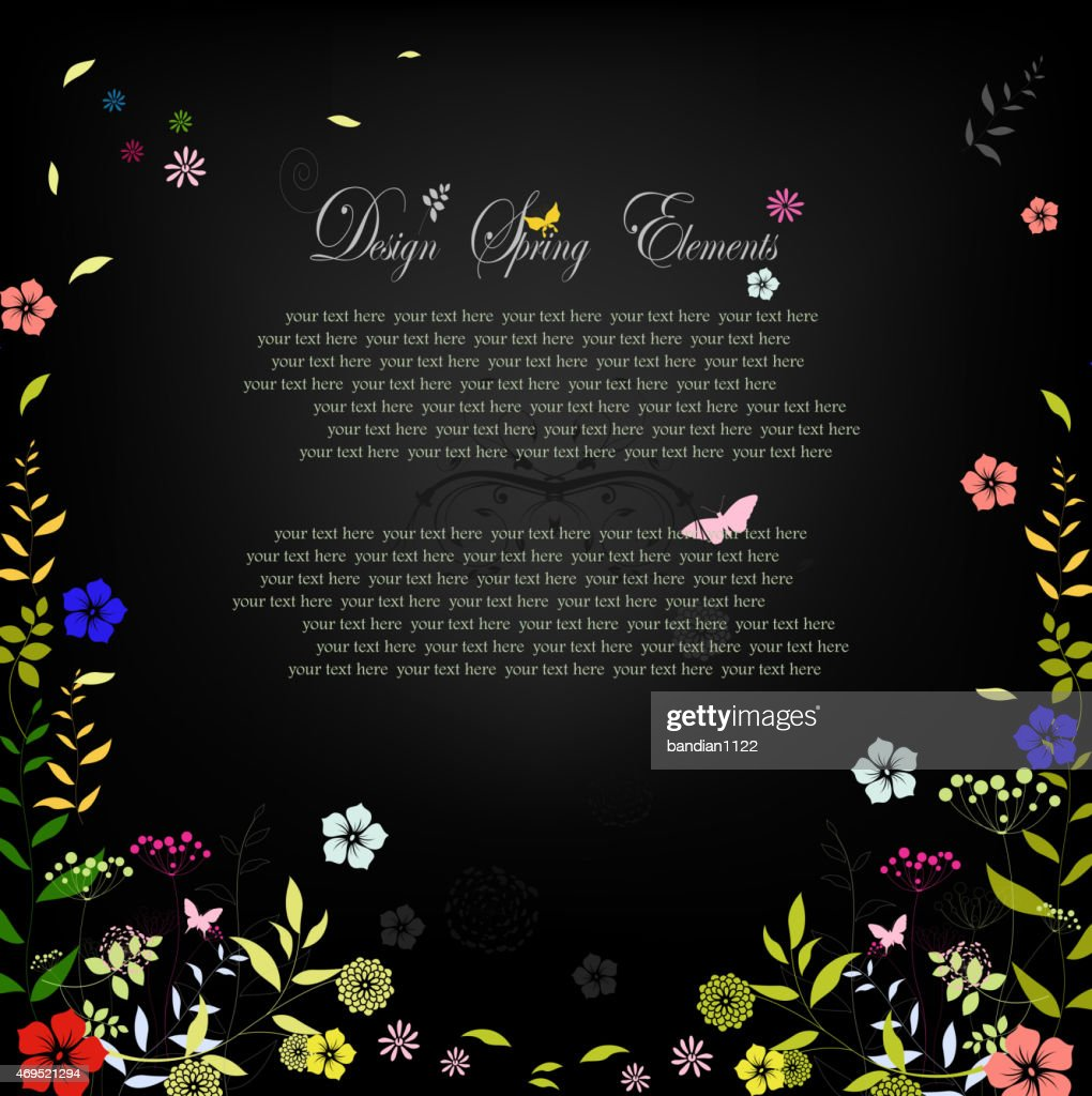 Beauty Flower spring background for you design with text