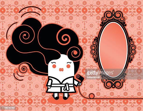 ilustraciones, imágenes clip art, dibujos animados e iconos de stock de belleza alistarse - obesidad infantil