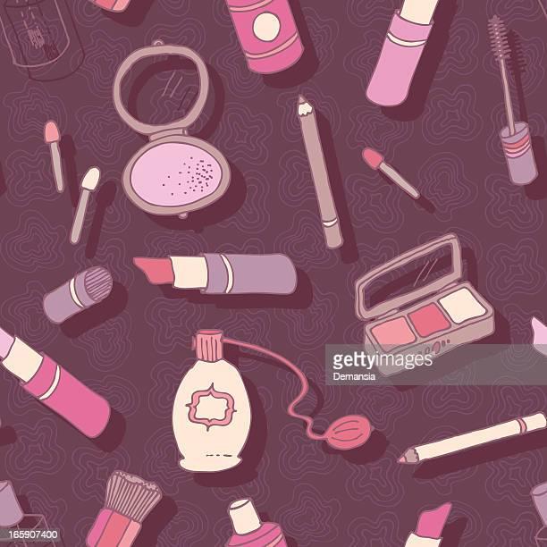 beauty makeup - eye make up stock illustrations, clip art, cartoons, & icons