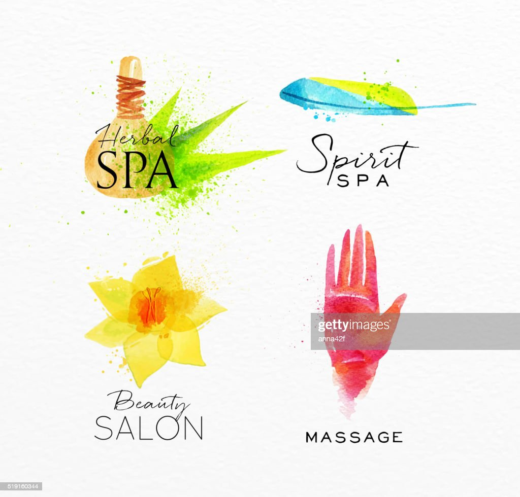 Beauty Natural Spa Symbols Herbal Vector Art Getty Images