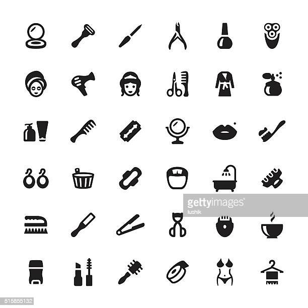 Beauty Product and Spa vector symbols and icons