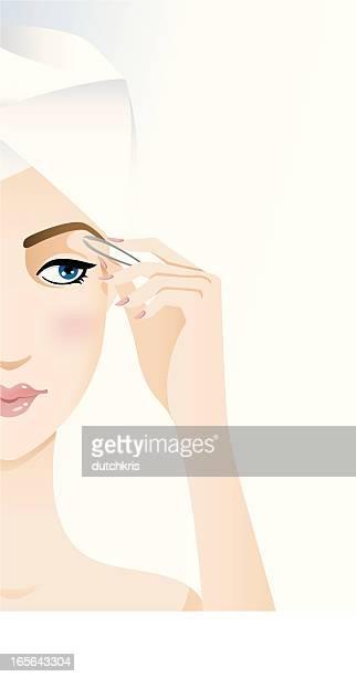 beauty regime - eyebrows - 修眉 幅插畫檔、美工圖案、卡通及圖標