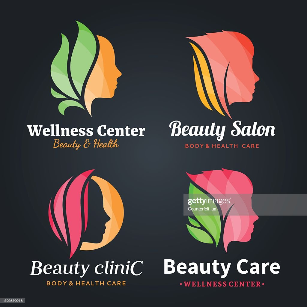 Beauty Salon Labels, Icons and Design Elements