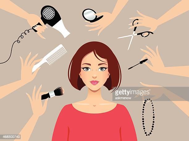 美容サロン - 美容師点のイラスト素材/クリップアート素材/マンガ素材/アイコン素材