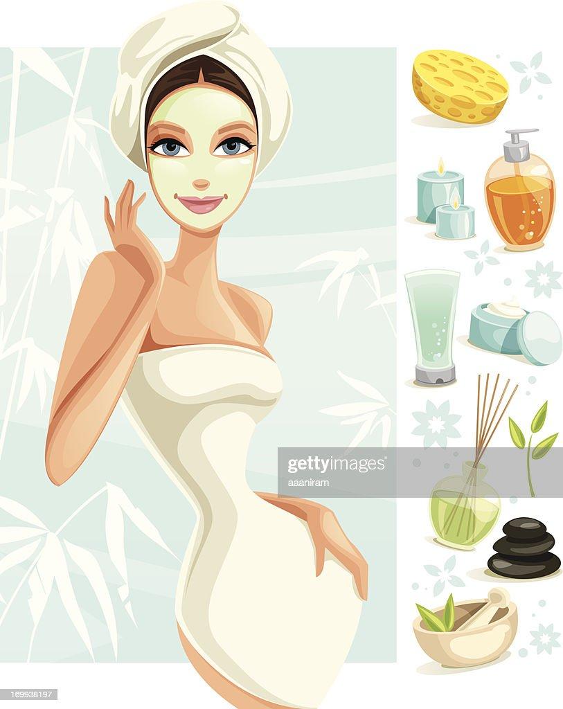 Beauty Spa : Stock-Illustration