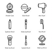 Beauty tool icon collection.