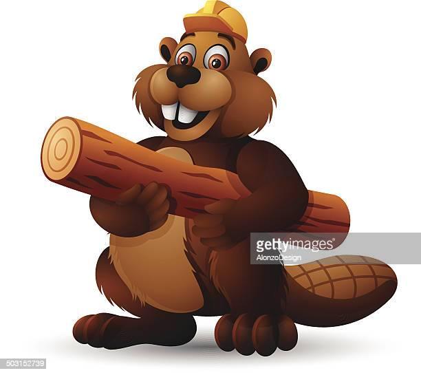 beaver character - funny beaver stock illustrations