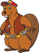 Beaver Wearing a Tool Belt