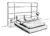 Bed at interior.