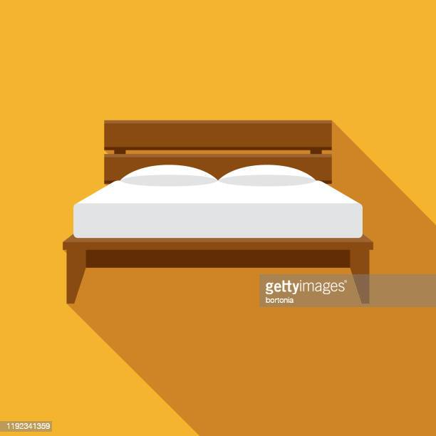 bed furniture icon - bed furniture stock illustrations