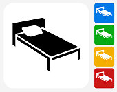 Bed Icon Flat Graphic Design