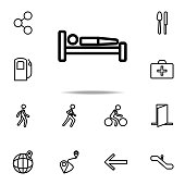 bed icon. Navigation icons universal set for web and mobile