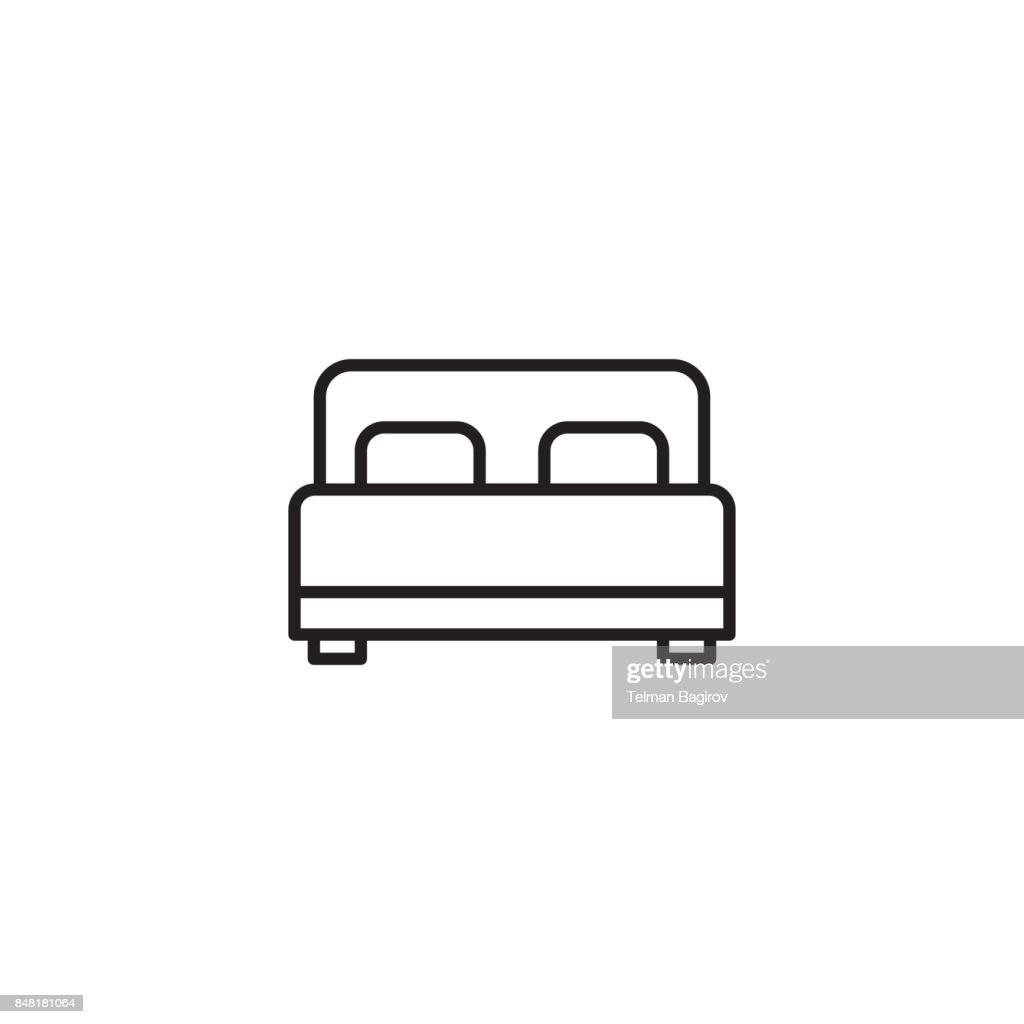 bed icon on white background
