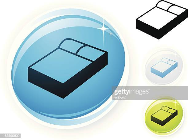 bed icon - mattress stock illustrations, clip art, cartoons, & icons