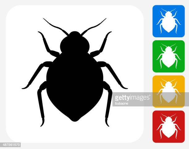 Bedbug Icon Flat Graphic Design