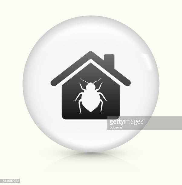 Bedbugs at Home icon on white round vector button