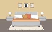 Bedroom in a beige color