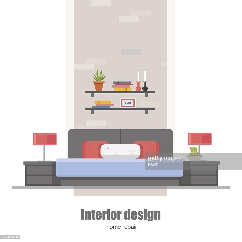 Bedroom Interior Home Interior Design Concept Made In Modern Flat
