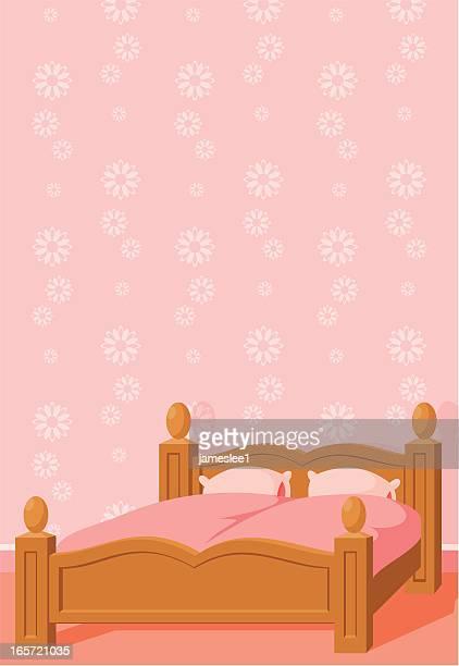 Schlafzimmer mit Textfreiraum