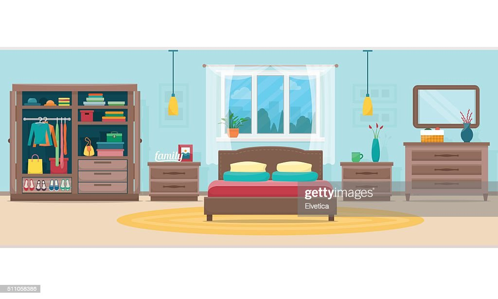 Bedroom with furniture and window