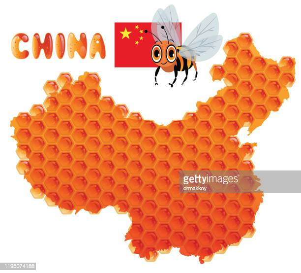 china, bee and honey - wuhan stock illustrations