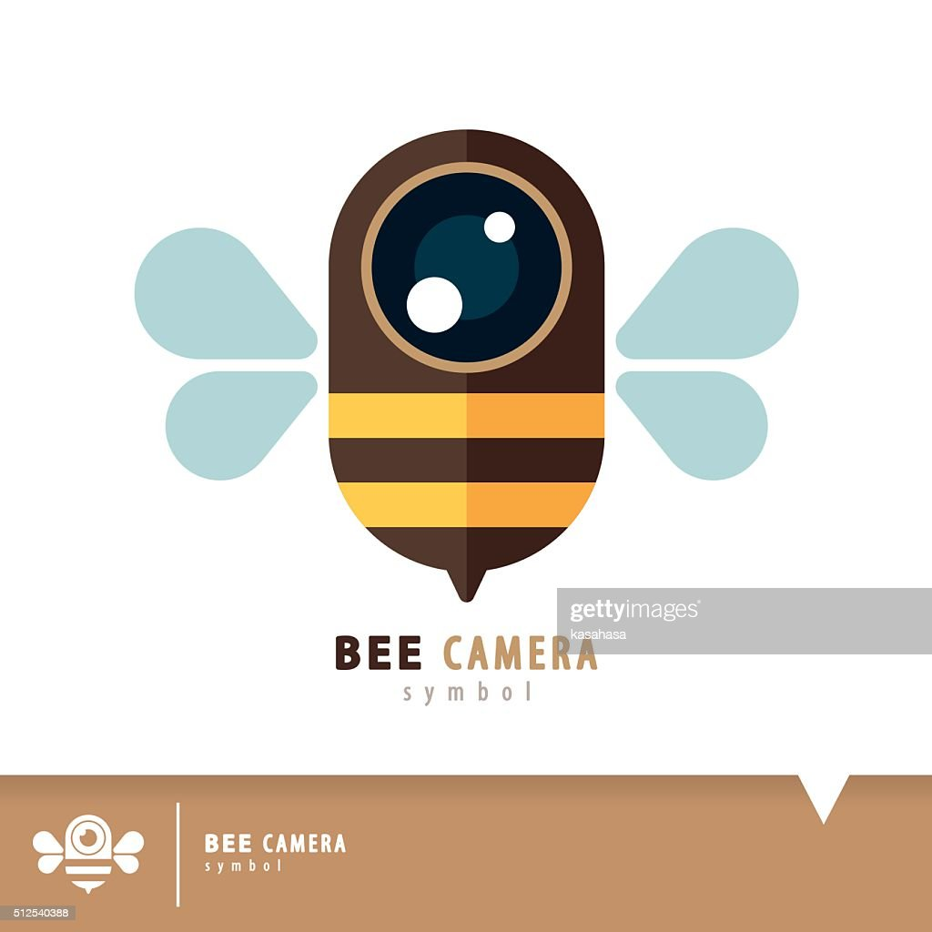 Bee camera symbol icon