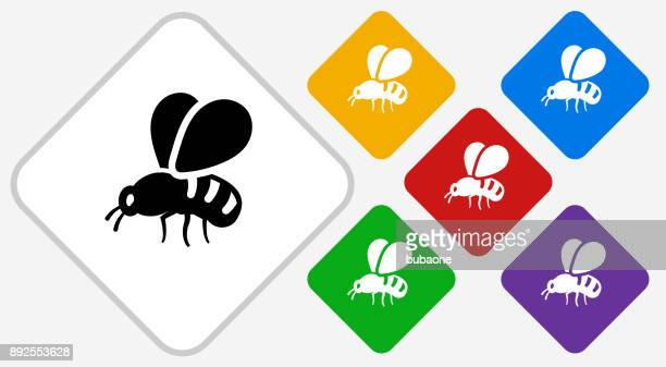 bee color diamond vector icon - queen bee stock illustrations