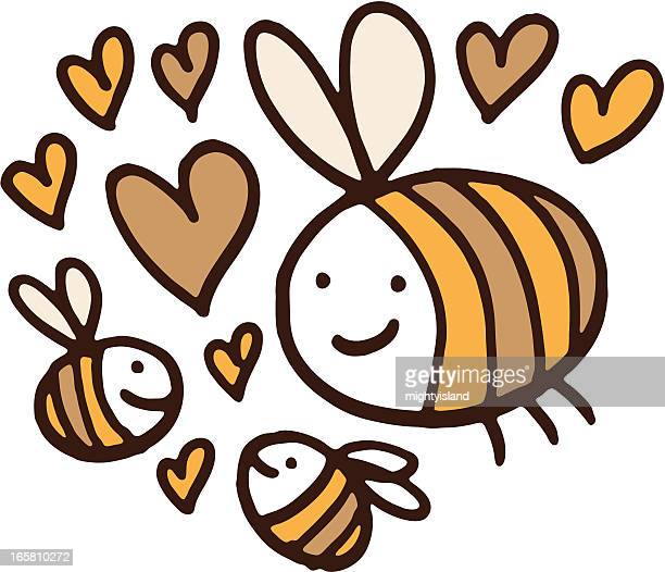 bee family love - bumblebee stock illustrations, clip art, cartoons, & icons