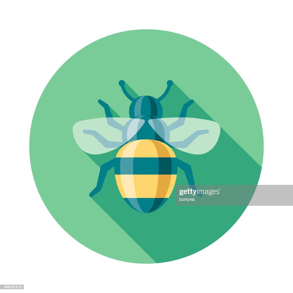 Bee Flat Design Springtime Icon : stock illustration