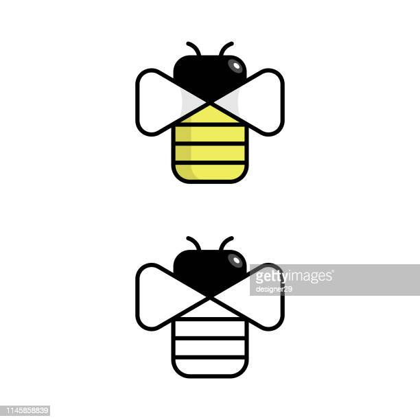 Bee Geometric Icon Design.