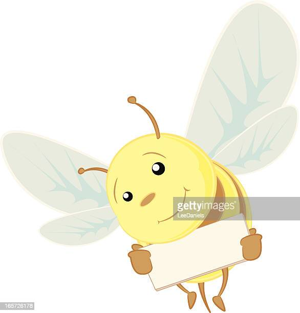 Bee holding a blank sign