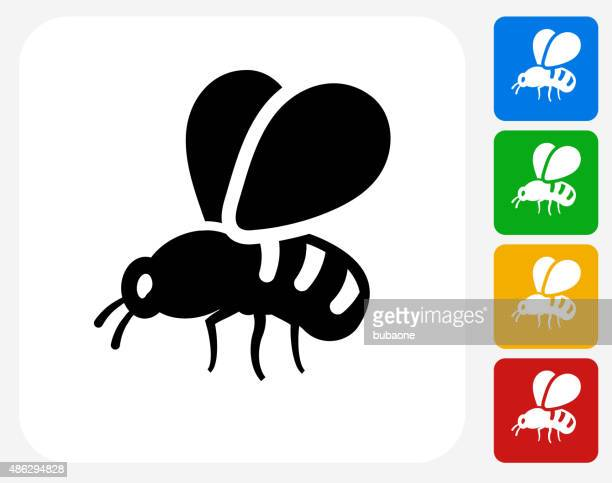 bee icon flat graphic design - queen bee stock illustrations