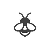 bee icon on the white background