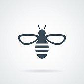 Bee icon. Vector concept illustration
