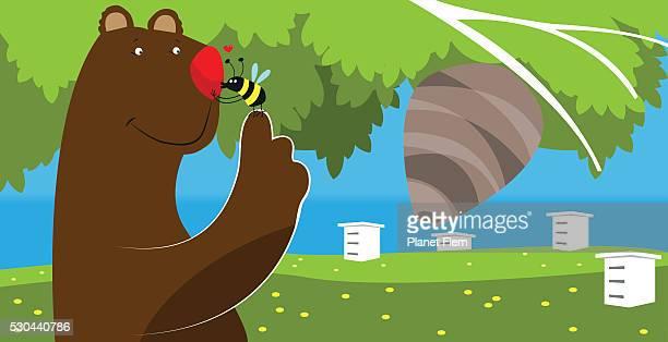 ilustraciones, imágenes clip art, dibujos animados e iconos de stock de abeja beso - gracias por su atencion