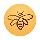 Bee Logo, bee vector, honey