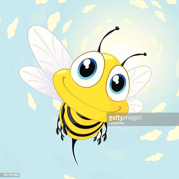 Bee on a summer background