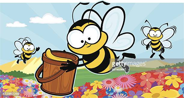bee productive - bumblebee stock illustrations, clip art, cartoons, & icons