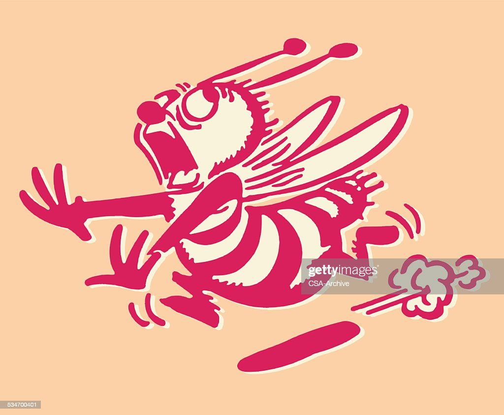 Bee Running Away : stock illustration
