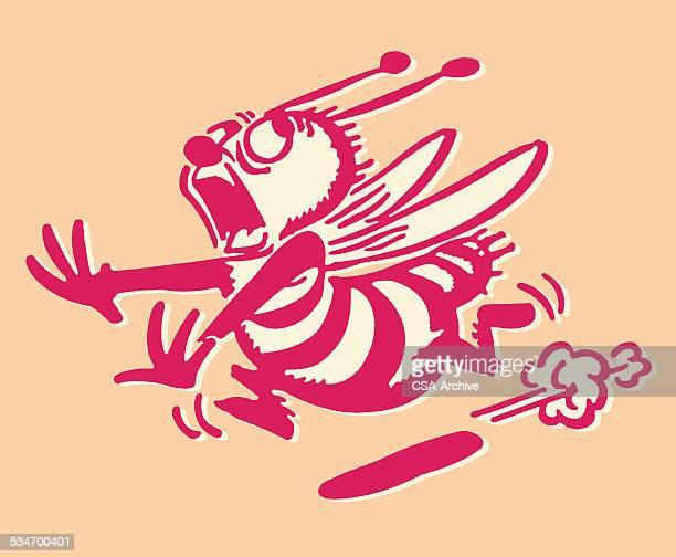 Biene Running entfernt