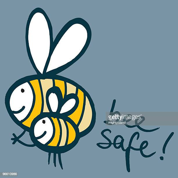 bee safe - bumblebee stock illustrations, clip art, cartoons, & icons