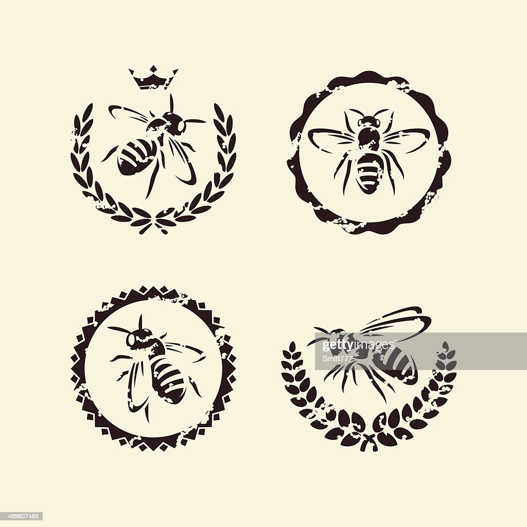 bee set. Vector
