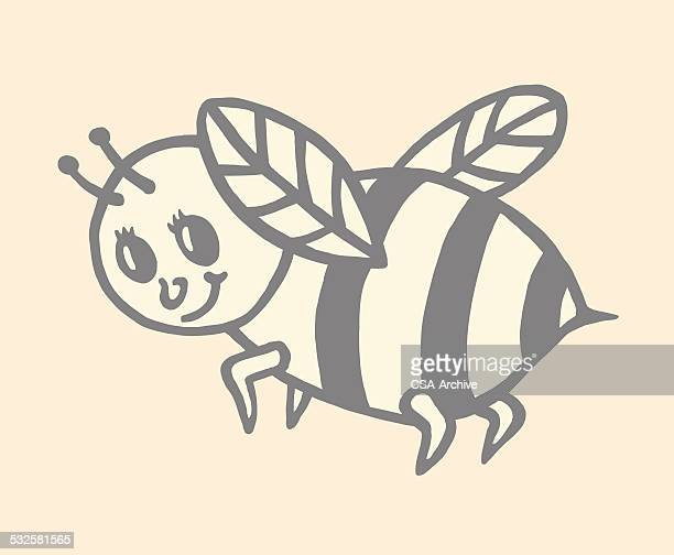 bee - bumblebee stock illustrations, clip art, cartoons, & icons