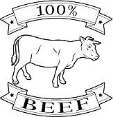 beef 100 percent label
