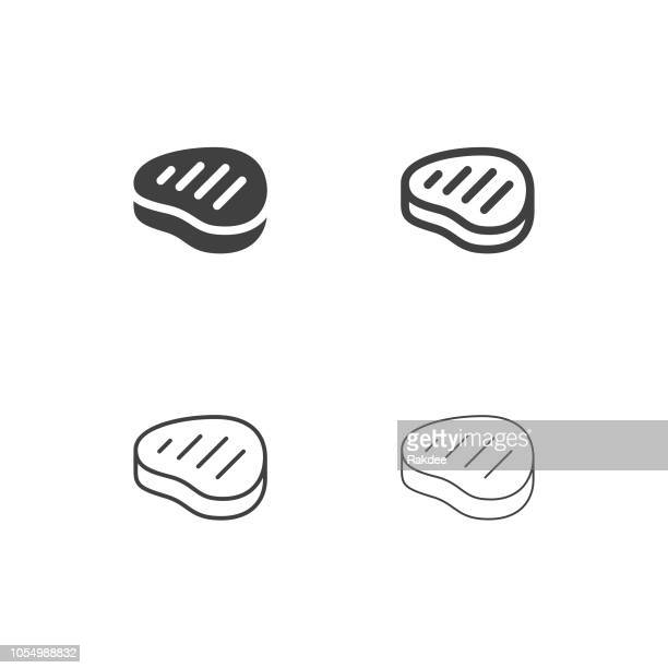 beef steak icons - multi series - beef stew stock illustrations, clip art, cartoons, & icons